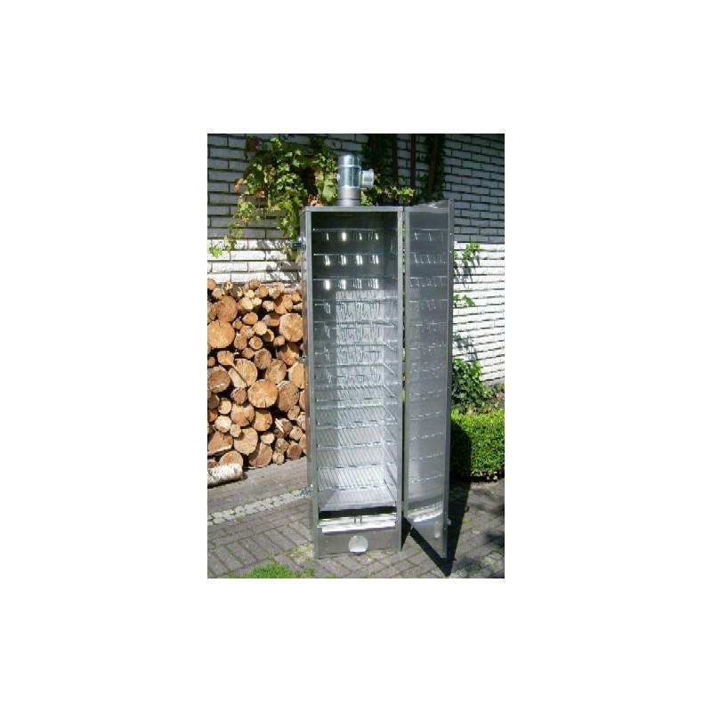 ISOLIERTER Räucherofen 120x39x33cm Smoki aus V2A-Edelstahl